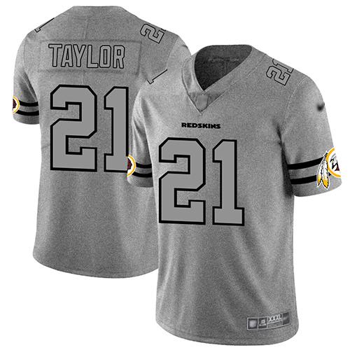 86 cheap jerseys Men\'s Washington Redskins #21 Sean Taylor Gray ...